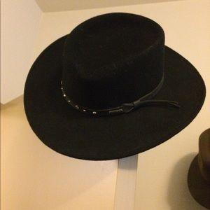SALE Black Hawk Crushable Gambler Cowboy Hat